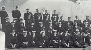 photograph: Admiral Sir Compton Domvile and Officers of HMS Bulwark, 1902