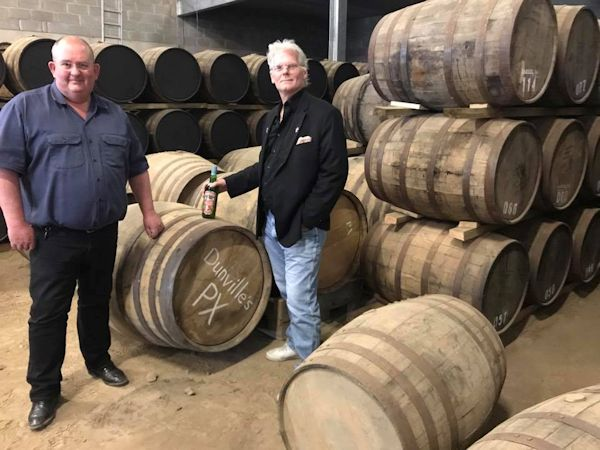 Shane Braniff and Christopher Dunville at The Echlinville Distillery, 5 July 2017