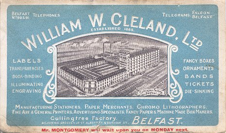 Business Card for William W. Cleland, Ltd.