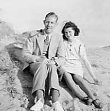 photograph: Denis Dumville (b c1917) and Eveline Mary Hornby, photograph taken 1941
