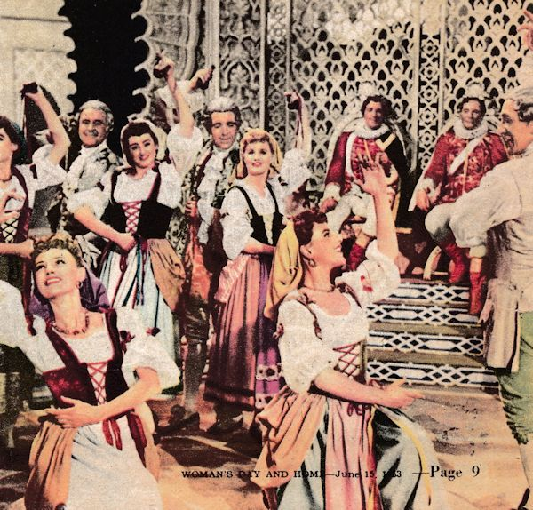 """The Story of Gilbert and Sullivan"" (1953): Roma Dumville dancing the Cachucha in ""The Gondoliers"" scene"