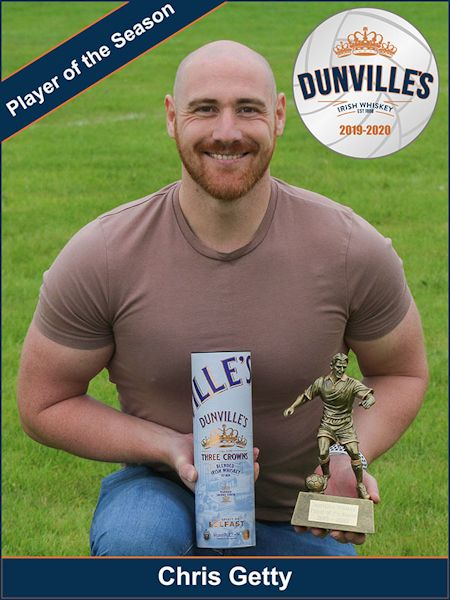 Dunville's Whiskey Player of the Season 2019-2020: Chris Getty, photograph by David Hunter