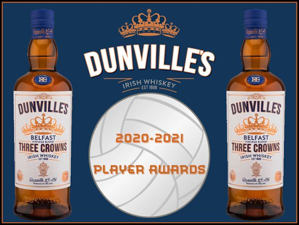 Dunville's Irish Whiskey 2020-2021 Player Awards, photograph by David Hunter