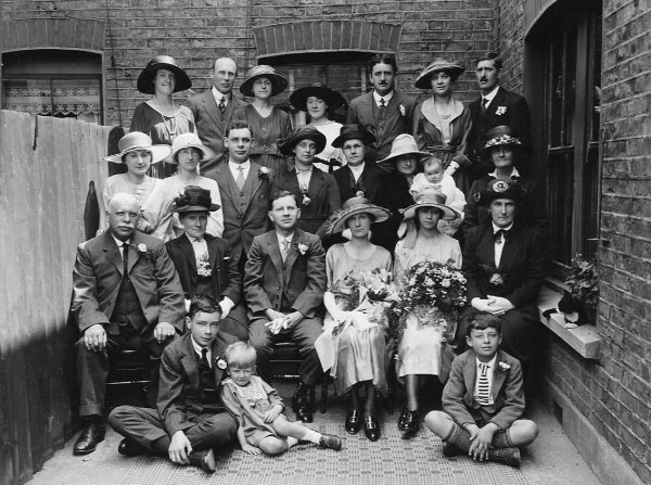 photograph: the Wedding of George Dumville and Elsie Cook, 1921