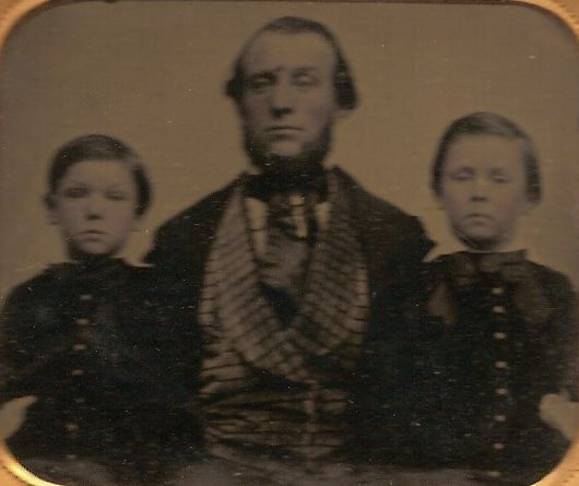 Joseph Dumville (1819-1900) and two of his sons: Joseph Dumville (1851-1939) and George Dumville (1849-1888)