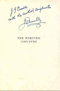 'The Worsted Industry': inscription