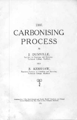 'The Carbonising Process': title page