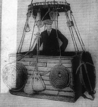 photograph: Mr. Dunville in the car of his balloon