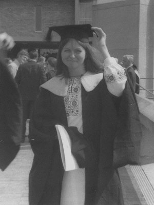 Graduation of Jill Holroyd at the University of Kent at Canterbury, 1971