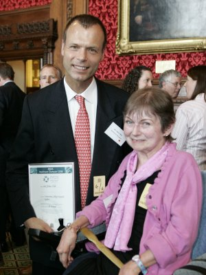 Mr Johan Witt, Consultant Orthopaedic and Trauma Surgeon, was nominated by Jill Holroyd for one of the NRAS (National Rheumatoid Arthritis Society) Healthcare Champions Awards and was presented with it in the Strangers Dining Room of the House of Commons on 4th June 2008.