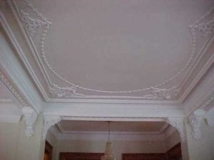 photograph: ceiling at 233 High Street, Lockport