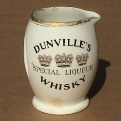 Dunville's Whisky ceramic water jug