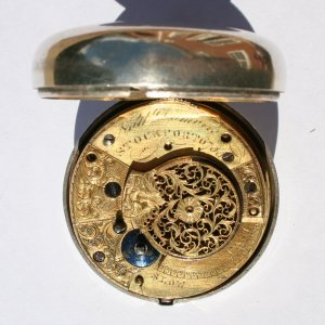 photograph: Nathaniel Dumvile Stockport Silver Pocket Watch