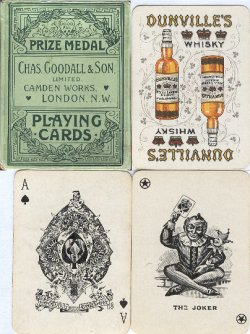 Charles Goodall & Son Ltd. Dunville's Whisky playing cards