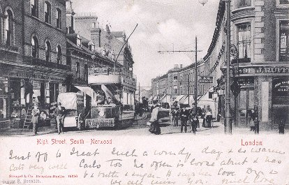 postcard: High Street, South-Norwood, London