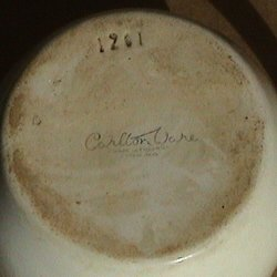 base of Dunville's Whisky small ceramic water jug