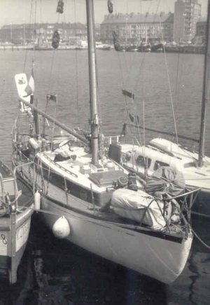 photograph: Swan of Arden, Dunkerque, 1975, after the Atlantic Ocean trip
