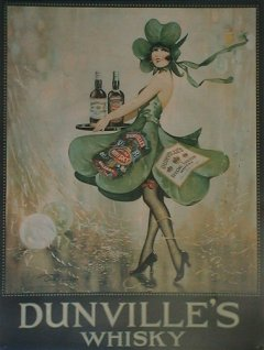 poster: Dunville's Whisky Waitress