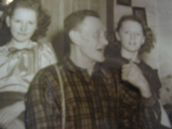 William Gustavus Dunville (1900-1956) and his daughters Shirley June Dunville (1933-1994) and Avis Zoe Pamela Dunville (1935-1977)
